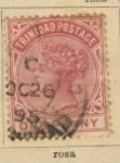 Stamps America - Trinidad y Tobago -  R. Victoria Ed 1883