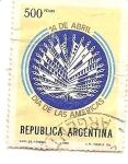 Sellos de America - Argentina -  Dia de las Americas