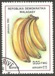 Sellos de Africa - Madagascar -  fruta banana