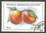 Stamps Madagascar -  fruta melocotón