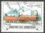 Stamps : Africa : Afghanistan :  Tren antiguo de Gran Bretaña