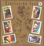 Stamps France -  50 - Estrellas del Jazz, Louis Armstrong actor de cine
