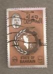 Sellos de Asia - Bahrein -  Emir y mapa