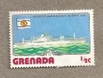Sellos de America - Granada -  S.S Geestland