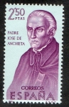 Stamps of the world : Spain :  1683- Forjadores de América. Padre José de Anchieta.