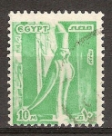 Sellos del Mundo : Africa : Egipto : Estatua de Horus.