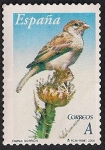 Stamps of the world : Spain :  Flora y fauna-Gorrión