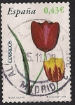 Stamps : Europe : Spain :  Flora y fauna-Tulipan