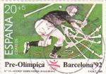 Sellos de Europa - España -  pre-olímpica Barcelona-92-jockey sobre hierba
