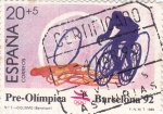 Sellos de Europa - España -  pre-olímpica Barcelona-92 -Ciclismo
