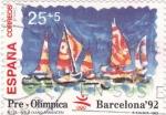 Sellos de Europa - España -  pre-olímpica Barcelona-92  - vela