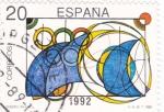 Stamps Spain -  Olimpiada de Barcelona-92 Diseño infantil