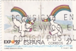Stamps Spain -  EXPO- 92 - Sevilla -Curro mascota