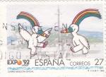 Sellos de Europa - España -  EXPO- 92 - Sevilla -Curro mascota