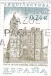 Stamps Spain -  Iglesia de San Martiño-Noia (A Coruña)