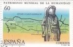 Stamps Spain -  patrimonio mundial de la humanidad-Camino de Santiago de Compostela