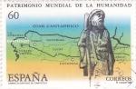 Sellos de Europa - España -  patrimonio mundial de la humanidad-Camino de Santiago de Compostela