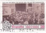 Sellos de Europa - España -  cine español- Salida de Misa de doce del Pilar de Zaragoza