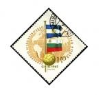 Stamps Hungary -  Mundial futbol Chile 1962 Banderas de Argentina y Bulgaria.