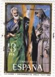 Sellos de Europa - España -  San Andres y San Francisco (el Greco)
