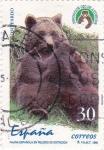 Sellos de Europa - España -  Fauna española en peligro de extinción- oso pardo