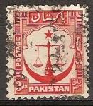 Sellos de Asia - Pakistán -  Justicia a la escala.