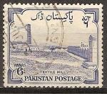 Sellos del Mundo : Asia : Pakistán : Octavo Aniv de la Independencia. Textiles, W. Pakistán.