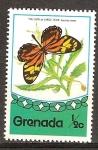 Sellos del Mundo : America : Granada : Mariposas.