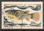Sellos del Mundo : Africa : Chad : Petraodon fahaka strigosus-Pez del Nilo.
