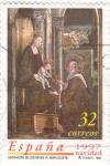 Stamps Spain -  Adoración de los reyes- Berruguete Navidad-97