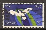 Sellos del Mundo : Africa : Sudáfrica : Quinto Aniv de la República. Pares bilingües. Pájaro en Vuelo.