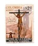 Stamps : America : Colombia :  Panteón Nacional - Iglesia de la Veracruz