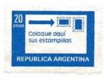 Sellos de America - Argentina -  Estampitas