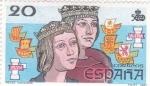Stamps Spain -  Reyes católicos