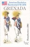 Sellos de America - Granada -  Bicentenario revolución americana 1776-1976