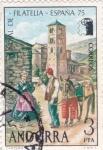 Sellos de Europa - Andorra -  cartero rural