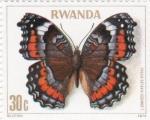 Stamps Rwanda -  Mariposa