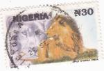 Sellos de Africa - Nigeria -  león