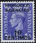 Sellos del Mundo : Europa : Reino_Unido : Jorge VI  , colonias (Marruecos)