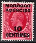 Stamps United Kingdom -  Jorge V, colonias (Marruecos)