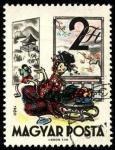 Sellos de Europa - Hungría -  Fábulas (2da.serie) Momotaro (cuento japonés). 1960.