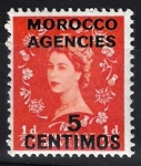 Stamps United Kingdom -  Isabel II,  colonias, ( Marruecos )