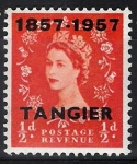 Stamps : Europe : United_Kingdom :  Isabel II,  colonias, ( Tanger )
