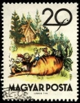 Stamps Hungary -  Fábulas (2da.serie) la remolacha (cuento ruso). 1960.