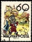 Stamps Hungary -  Fábulas (2da.serie)  El gato con botas. 1960.