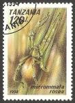 Sellos de Africa - Tanzania -  micrommata rosea