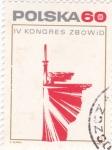 Sellos de Europa - Polonia -  IV congreso-logotipo