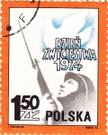 Sellos de Europa - Polonia -  1974 soldado y paloma de la Paz