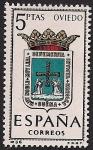 Sellos de Europa - España -  Escudos de capitales - Oviedo