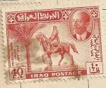 Sellos del Mundo : Asia : Irak : Jinete a caballo